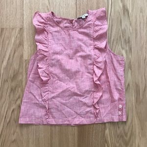 Madewell pink blouse